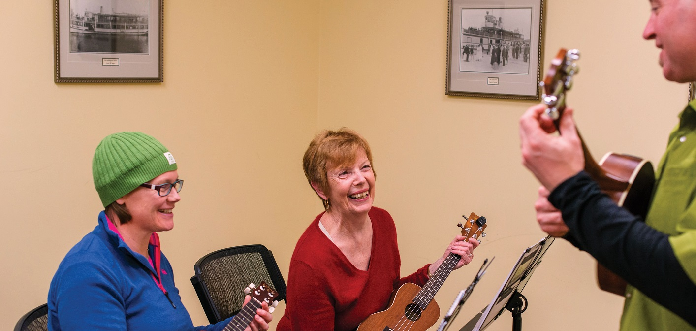 Ukulele is just one of dozens of recreation and sports activities available at the Town of Huntsville