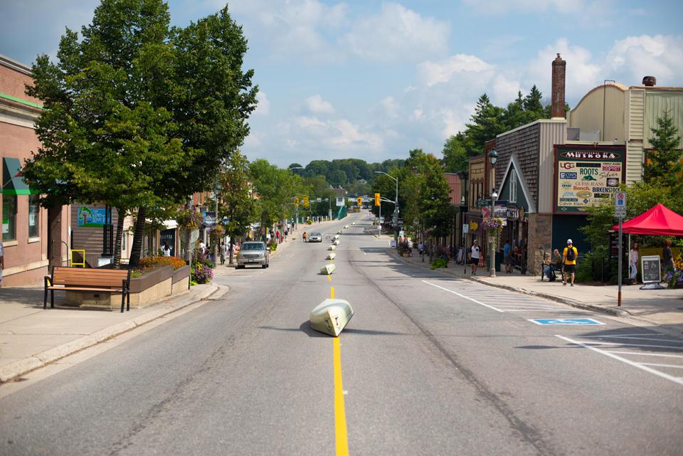 Historic downtown Huntsville got a unique - and very Muskokan - makeover during the inaugural Muskoka Ironman Triathlon