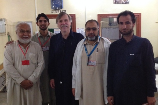 Dr. Roy Kirkpatrick with local nurses in a hospital in NW Pakistan