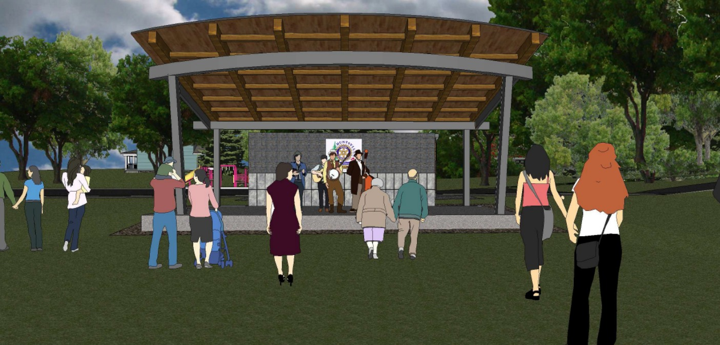 River Mill Park Bandshell - artist's conception