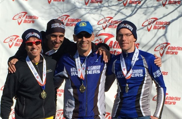 (From left): The gold medal winning Men's 40-49 Team of Mark Sinnige, Pierre Mikhail, Troy Cox and Chris Watson