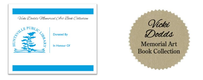 A bookplate and collection label will adorn each donated art book