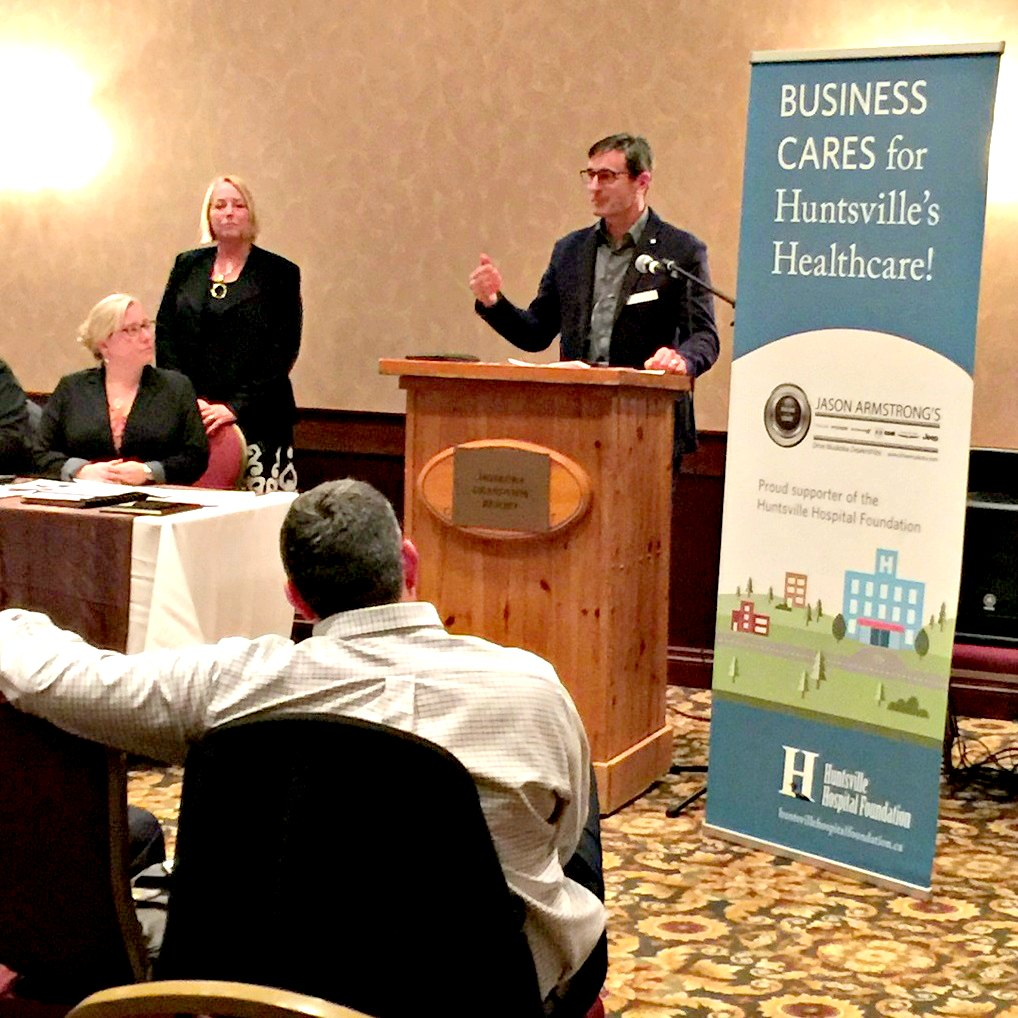 Pat Dubé at the launch of Business Cares at the Chamber AGM