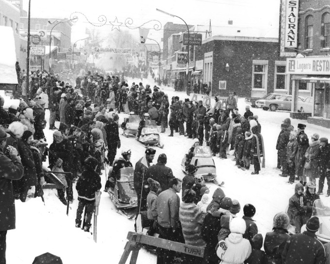 Wayback Wednesday 3 - Snowmobiles on Main