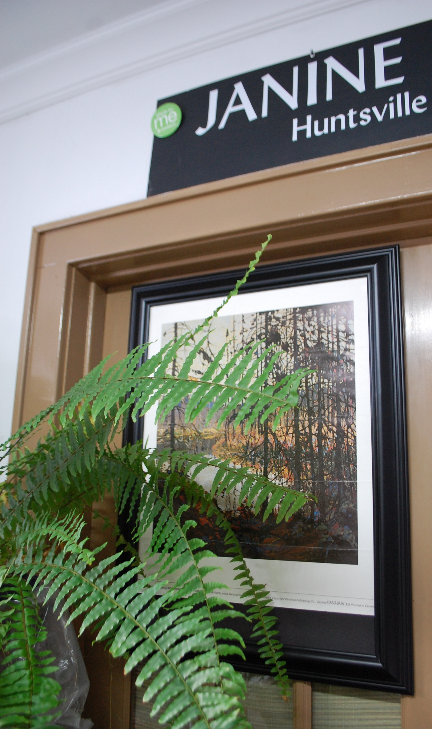 Marson's old poster of Tom Thomson's Northern River has been an inspiration and now hangs in her studio