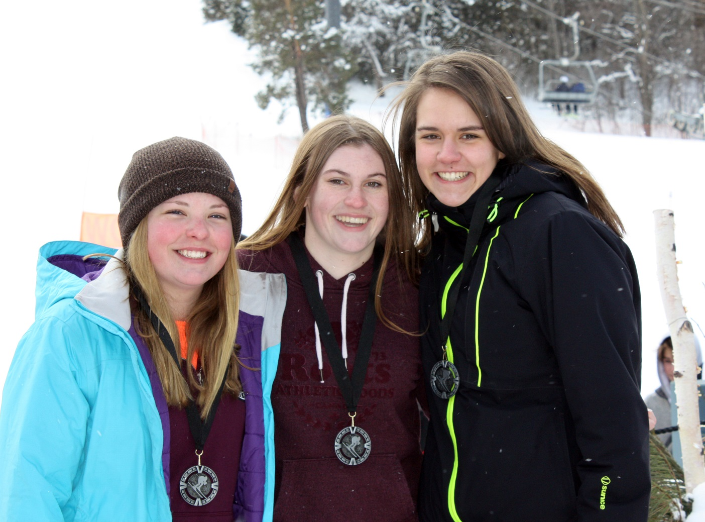 Level 2 Girls (from left) Sydney Stevens, Emily Jason, Addie Howell