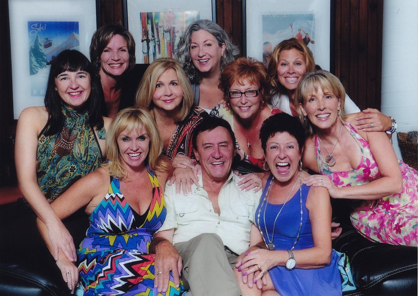 A recent reunion shot of Frankie and the original showgirls