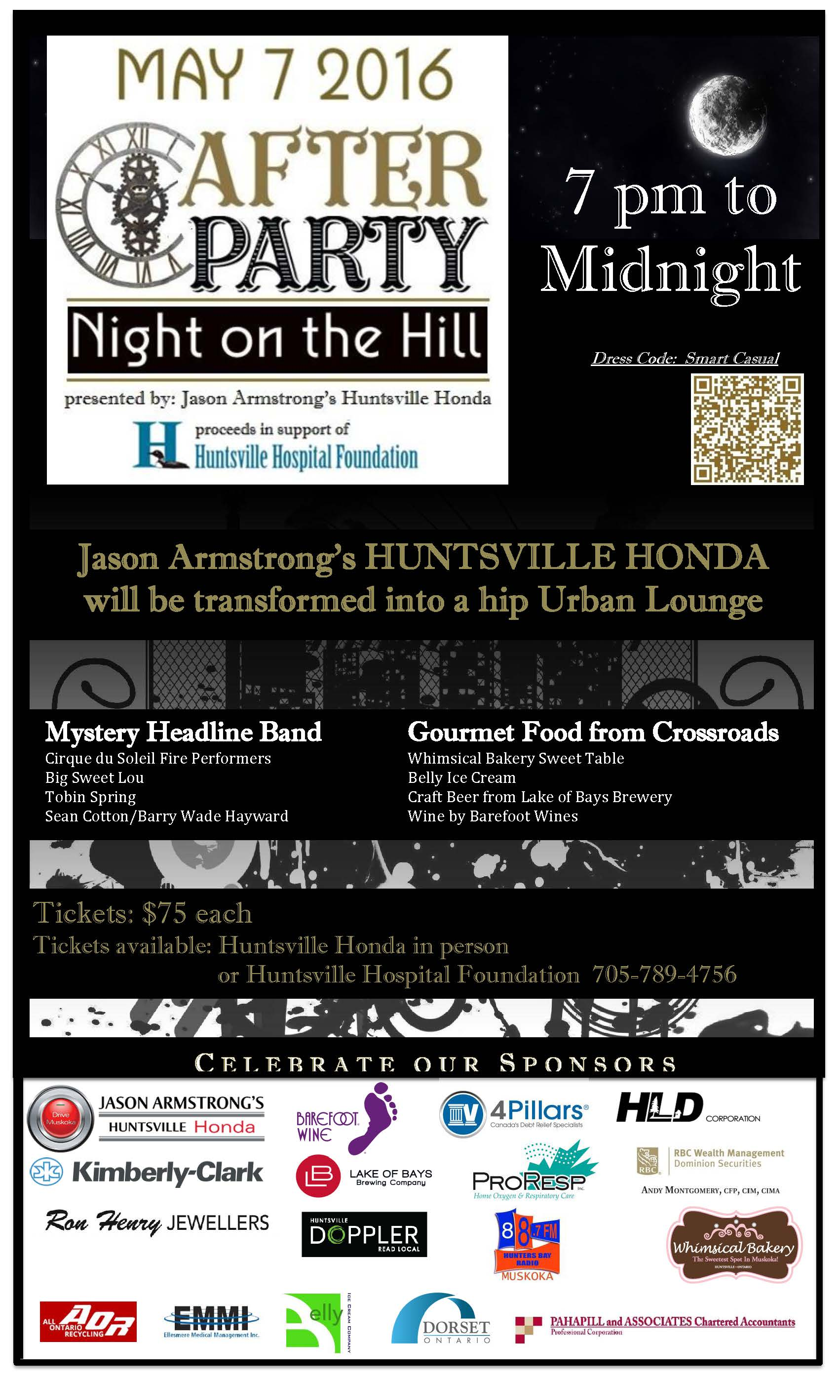 After Party - Night on the Hill flyer sponsors