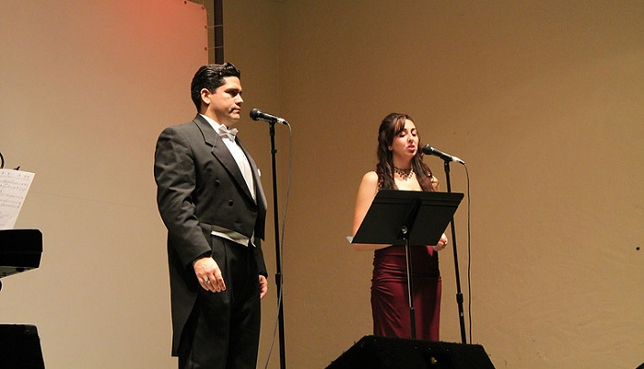 Amy with American tenor Aaron Caruso