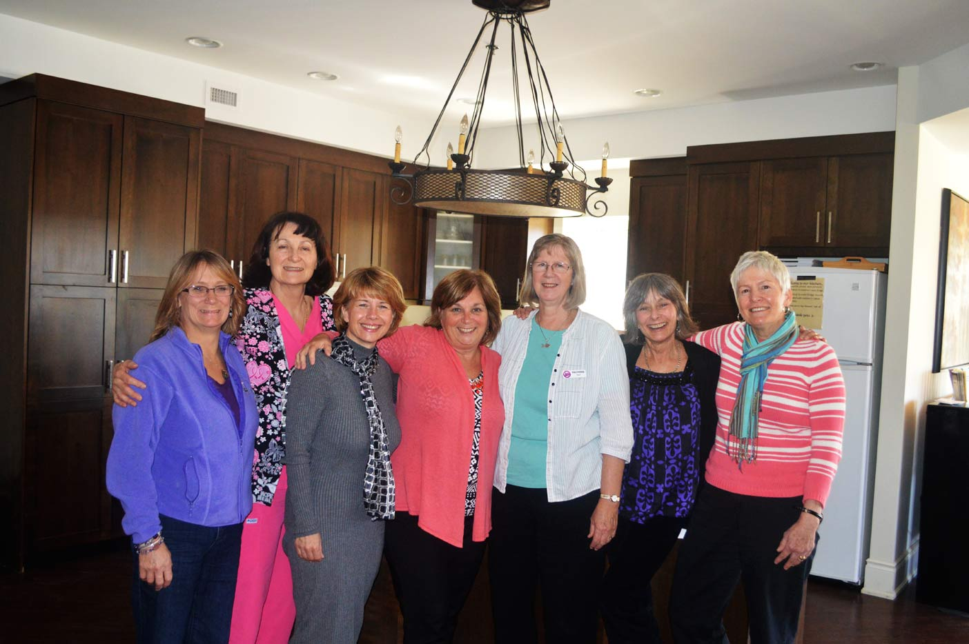 A team of dedicated volunteers and workers is what makes Hospice Huntsville such an amazing service. (From left) Kellie Leader, Betty Lou Durr, Melissa Polischuk, Bev Lashbrook, Pat Looker, Vina Parker and Eleanor Barry.