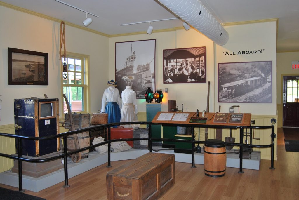 Inside the Steam Museum at the Rotary Village Station at Muskoka Heritage Place