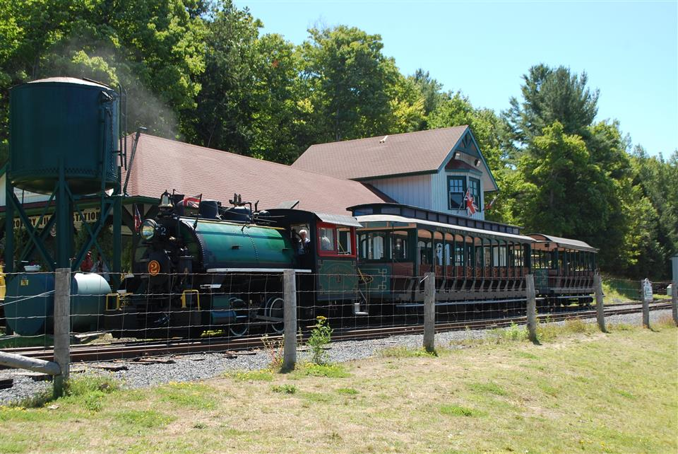 The Portage Flyer train station is a recreation of what train stations looked like at the time.