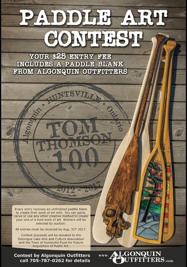 Algonquin Outfitters Paddle Art Contest poster