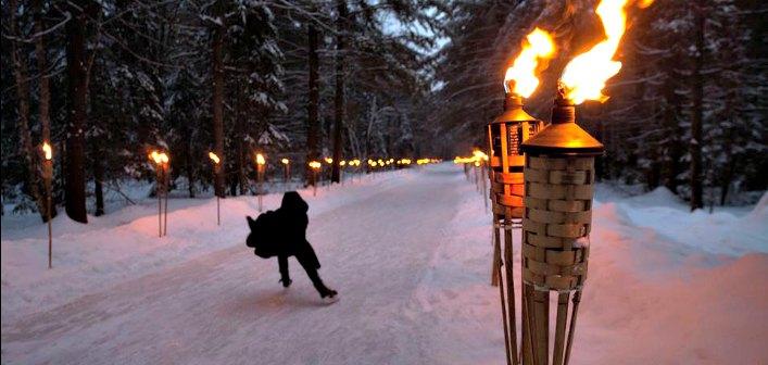 A Fire and Ice night on the Arrowhead Ice Trail (Photo: Muskoka Tourism)