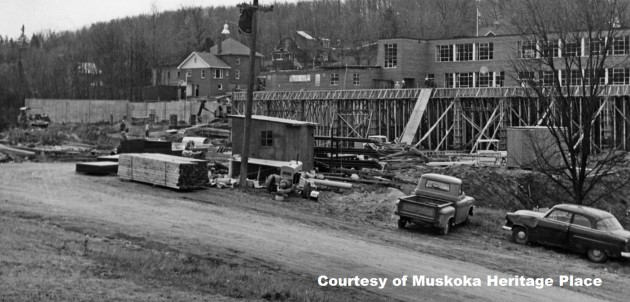 Construction of the technical wing at Huntsville High School, 1963
