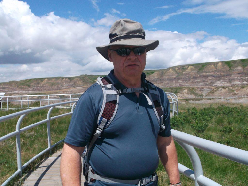 Derek enjoyed a trip to Dinosaur Provincial Park with his grandson last year. (Photo courtesy of Derek Shelly)