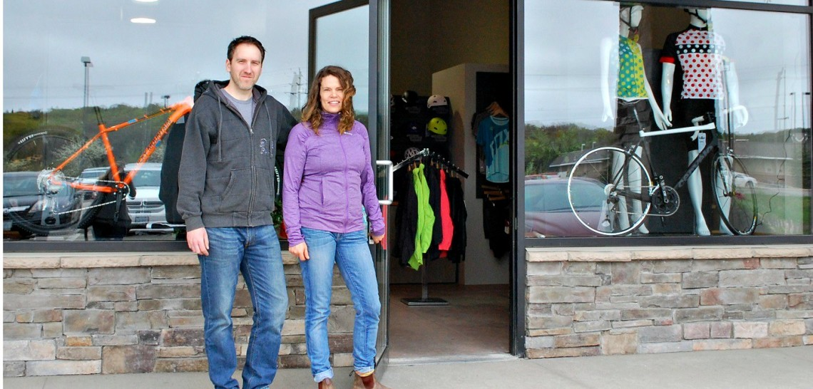 Matt Todd and Kristi MacDonald welcome cyclists of all abilities to The Bike Shop in Huntsville