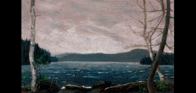 Tom Thomson's Northern Lake, spring or fall 1912, oil on paperboard (Image: tomthomsoncatalogue.org)