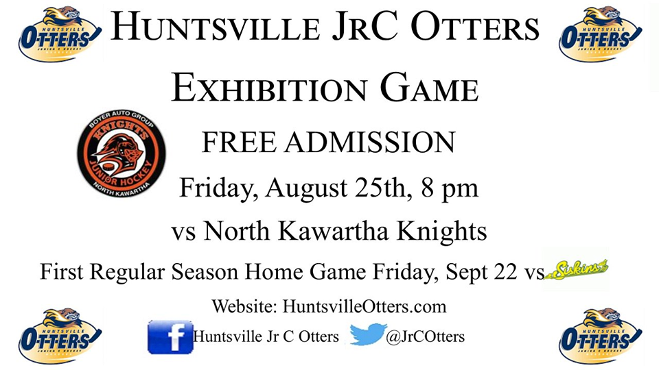Huntsville Jr C Otters Pre Season Exhibition Game Admission Is Free Huntsville Doppler