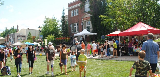 For one day only, Main Street Huntsville is transformed into an urban park for the annual Sidewalk Sale (Photo: Downtown Huntsville BIA)