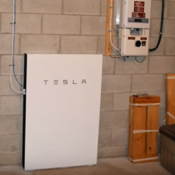 This Tesla Powerwall was installed by Greenside Electric Solar - the first residential install in Canada