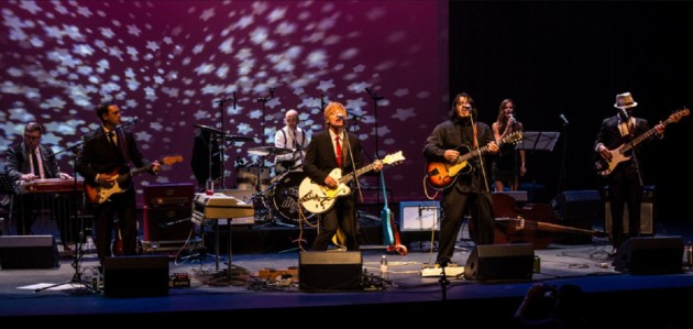 Jamie Clarke (foreground, second from right) on stage at the inaugural Rock & Roll Black Tie Affair (Photo courtesy of Jason Behm and Amber Bromby)
