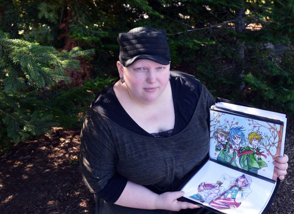 Jenn is self-taught and has developed a love for Japanese-style cartooning.