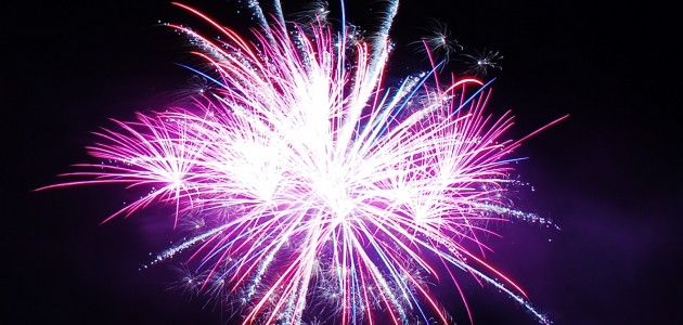 The annual New Year's Eve fireworks display at Hidden Valley Highlands Ski Area was a blast!