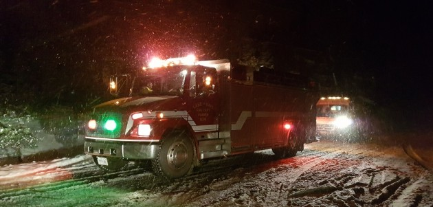 Emergency vehicles of all kinds collect donations for Project Porchlight