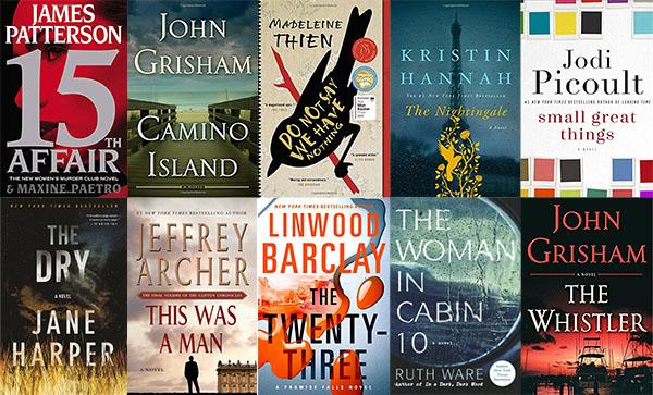 Huntsville Public Library's top 10 adult fiction books of 2017 (Image: Julie Manczak)