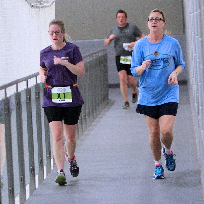 And then a 15-minute run on the Canada Summit Centre track to finish it off (Photo: TriMuskoka)