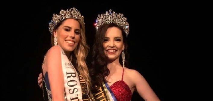 Miss Petite Model Universe, Ciara Thompson (right) with Miss Teen Model Universe, Sara Izaguirre, from Venezuela