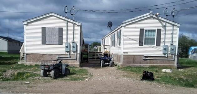 Typical housing in Attawapiskat First Nation