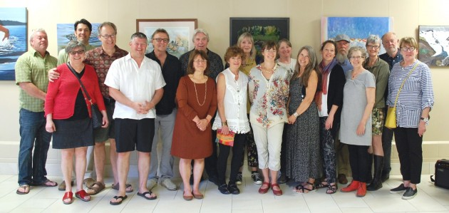 Muskoka Autumn Studio Tour members and dignitaries gathered for the tour's 40th anniversary kick-off