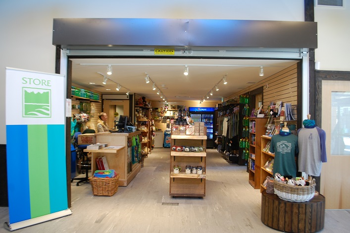 The park store in the new visitor centre opened July 1
