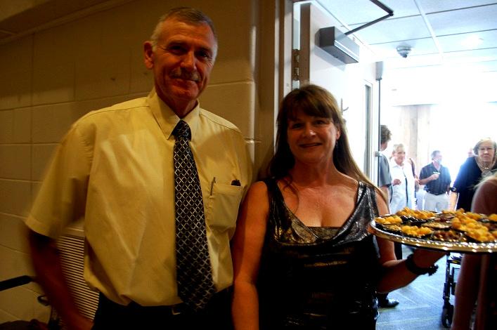 Muskoka Seniors staff Rick Hofstetter (left)and Karen Raaflaub