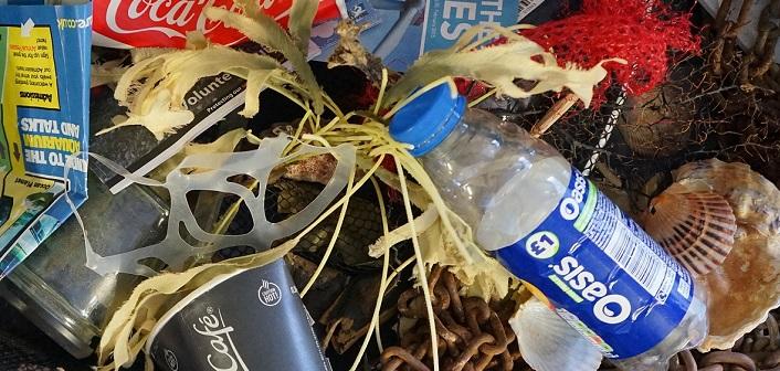 Ocean waste often includes single-use plastics
