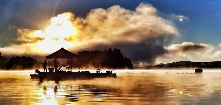 It's called the Sunrise Swim for a reason (Photo: TriMuskoka / Facebook)