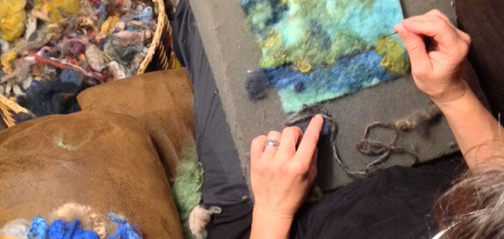 Watercolour with Wool is a unique way to 'paint' (Image: findyourwild.ca)