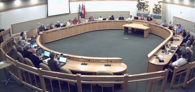 A screenshot from the Sept. 17, 2018 District Council meeting webcast (muskoka.on.ca)