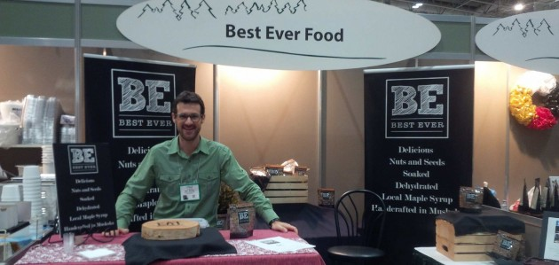 Matt Richter of Best Ever Food at Royal Agricultural Winter Fair in 2017 (Photo courtesy of Best Ever Food)
