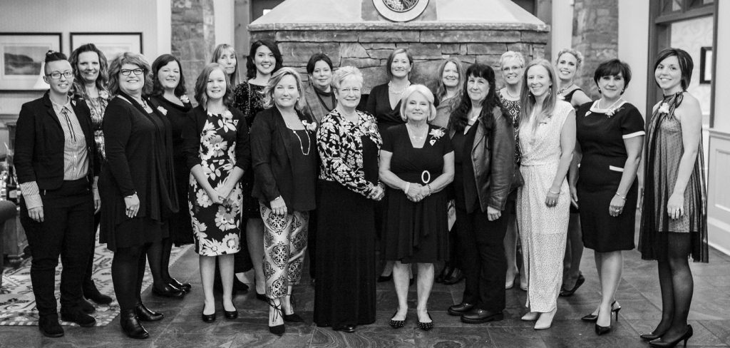 The 2018 Women of Distinction nominees at the Mark O'Meara clubhouse for the awards ceremony (supplied)