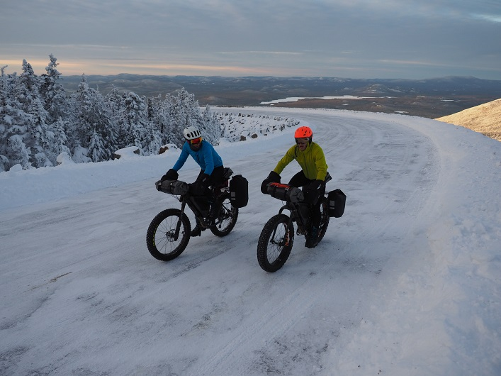 Ted King (left) and Ryan Atkins pedal up Whiteface Mountain in the Adirondacks (Photo: Eric Batty)