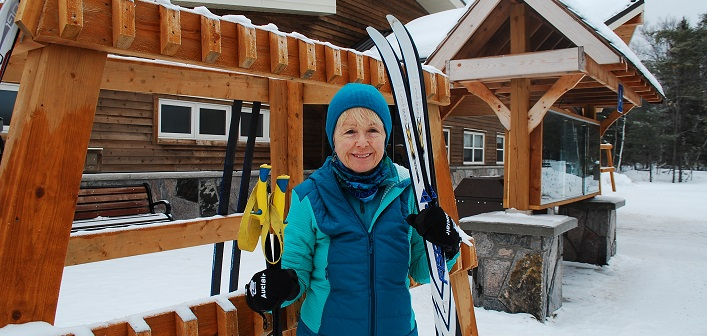 Mary Spring at the new Arrowhead Visitor Centre where she'll compete in the Ontario 55+ Winter Games in March