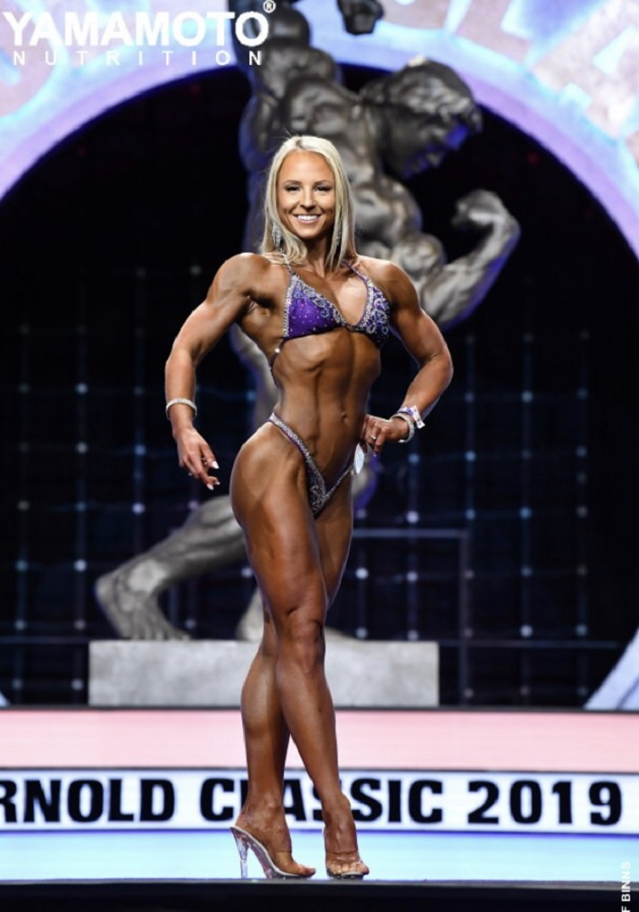 Angie Aldridge at the 2019 Arnold Classic (supplied)