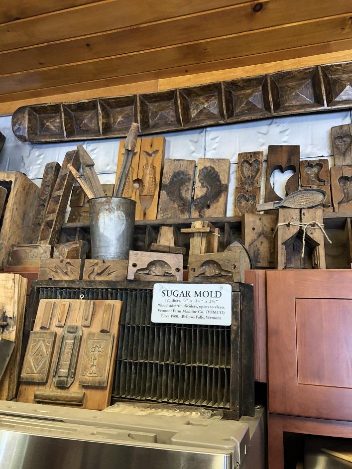 Antique sugar molds at Sugarbush Hill Maple Farm