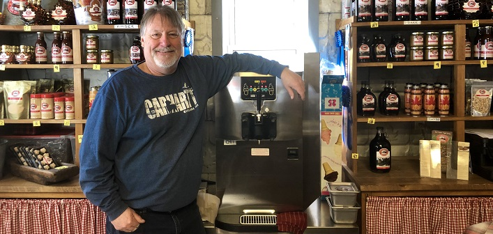 Tom Stehr will be serving up Maple Creemees at Sugarbush Hill Maple Farm for the first time this year
