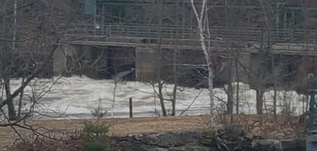 The dam at the Brunel Locks on April 24, 2019 (Doppler file photo)