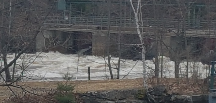 The dam at the Brunel Locks on April 24, 2019 (Doppler file photo)