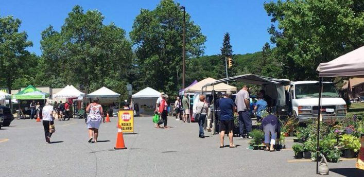 The Huntsville Farmers' Market (pictured here at Canadian Tire) is moving to a new location (Huntsville Farmers' Market / Facebook)